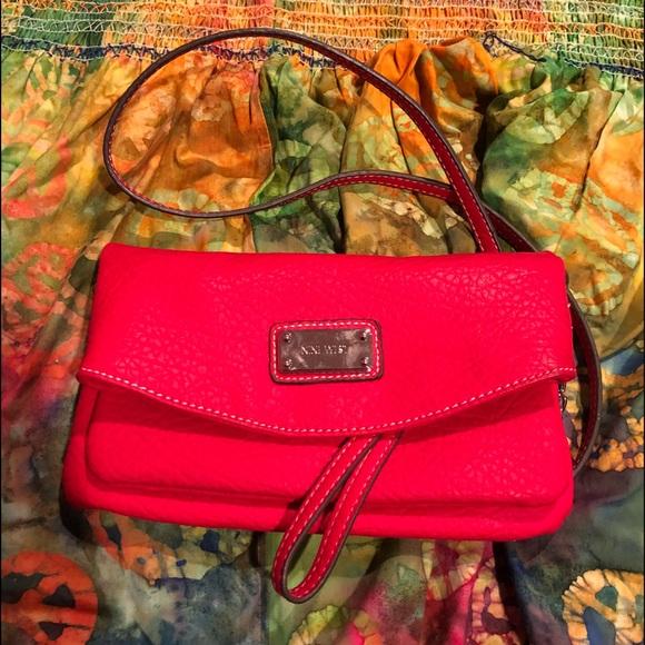 Nine West Handbags - Nine West red crossbody purse, mint condition